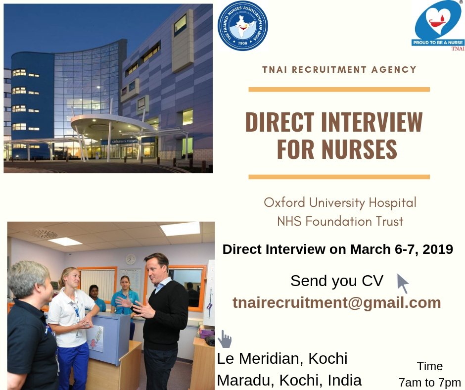 TNAI's Free Recruitment Nurses to UK - Oxford NHS Trust